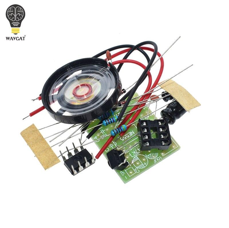 NE555 дверной звонок набор электронного производства дверной звонок Набор сделай сам Ding dong дверной Звонок PCB сварочная лаборатория