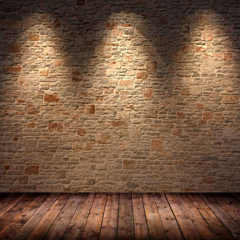 Brick Wall Light: 5x7ft Light Color Bricks Wall Vintage Wooden Floor Wedding Custom  Photography Studio Backgrounds Vinyl free shipping,Lighting