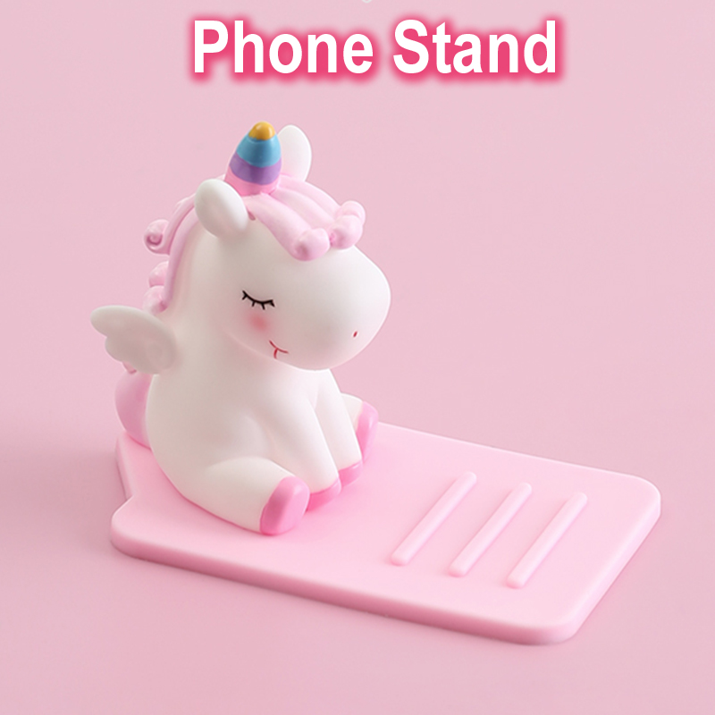Hot Sale Cute Cartoon Unicorn Phone Stand Bracket Base Mobile Phone Holder Support Desk Decor Anti-slip For Iphone Xiaomi Huawei Samsung Fixing Prices According To Quality Of Products Mobile Phone Accessories