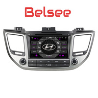 Belsee Android 8.0 Head Unit Car Multimedia System DAB DVD Player GPS Navigation Radio Stereo ix35 Tucson Hyundai2015 2016 2017