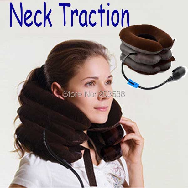 New Pneumatic Neck Cervical Traction Brace Device For Head Shoulder Pain Neck Traction Device Neck Massager good gift for your family home use over door cervical traction set for fast and easy to relieve neck shoulder pain