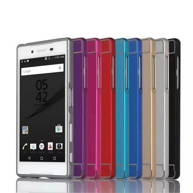 bilder für Für sony xperia z5 compact z5 premium abdeckung 4,6 5,5-zoll metall aluminium + pc zurück case abdeckung für sony xperia z5 mini telefon case