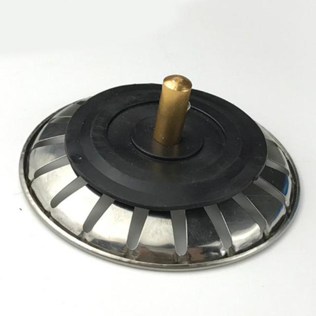 높은 품질 1pc 스테인레스 스틸 주방 싱크 스트레이너 스토퍼 폐기물 플러그 싱크 필터 욕실 분지 싱크 드레인 lavabo