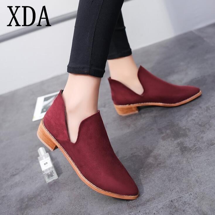 Estrecha 2018 Martin Bajo Xda Mujer Zapatos Moda Nueva Retro Cortas BXfpwHqnxq