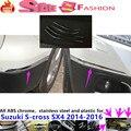 Тела фронт + back side Бампер защита уголок отделка рама палка ABS хром анти-руб крышка Suzuk1 S-cross SX4 2014 2015 2016