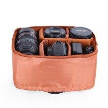 Dslr slr 카메라 삽입 가방 카메라 내부 케이스 가방 drawstring 소프트 shockproof 파티션 패딩 카메라 삽입 디바이더 커버 케이스