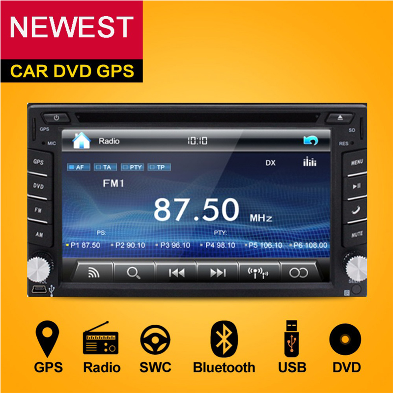 2 Din Car DVD Player Monitor Universal Car Radio GPS Auto 3G USB BT IPOD FM