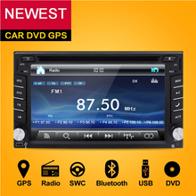 2 Din Car DVD Player Monitor Universal Car Radio GPS Auto 3G USB BT IPOD FM RDS In Dash Car PC Stereo video Audio FREE Camera