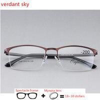 2018 brands Metal Business Eyeglasses Optical Prescription Glasses Eyewear Clear Lens for Women Men Unisex Computer Glasses