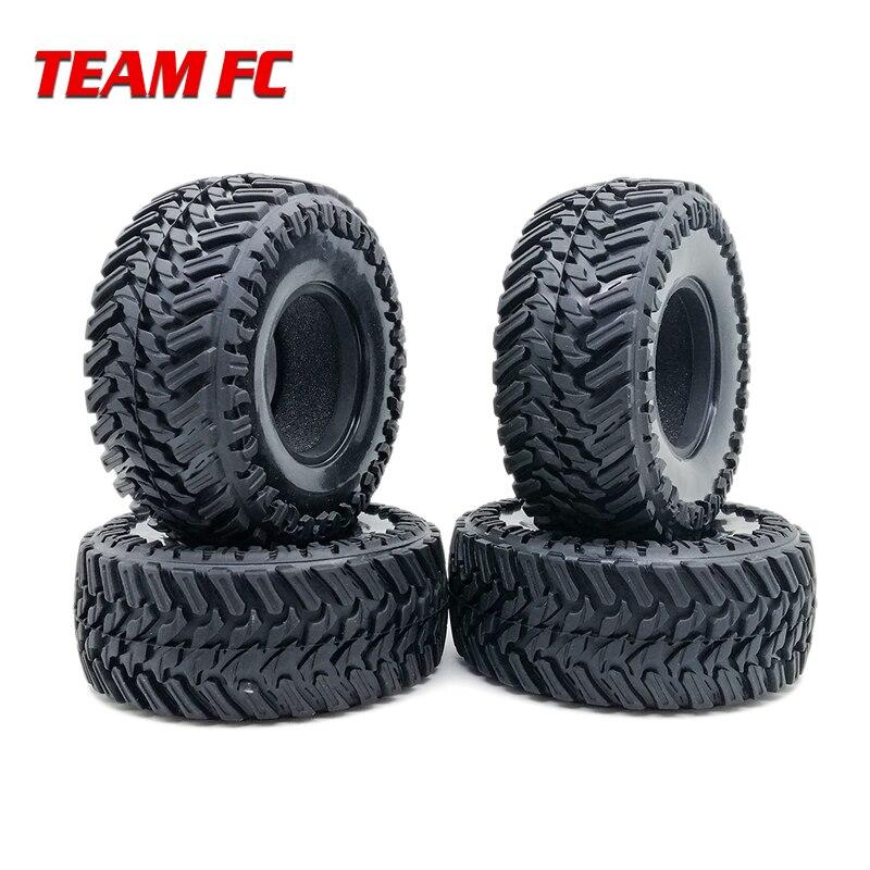 4PCS 107MM 108mm 1.9 Rubber Rocks Tyres / Wheel Tires For 1:10 RC Rock Crawler Axial SCX10 90047 D90 D110 TF2 TRX-4 S273