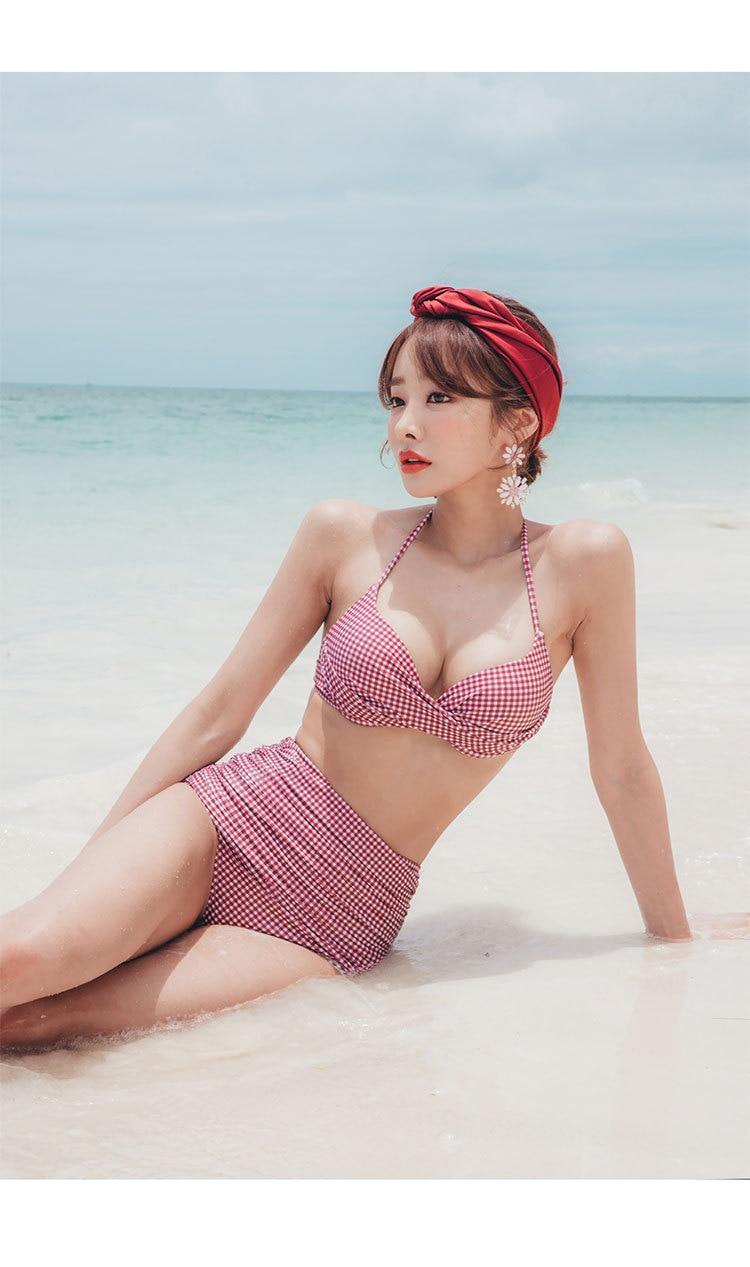 6cc1a34f4f Bikini Set 2018 Swim Dress Closed Swimwear A Whole Bathing Suit Woman Swimsuits  Suits New Swimsuit Female Sexy Size Print