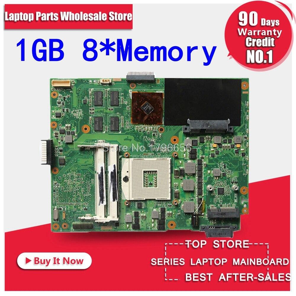 K52JR Motherboard 1GB REV:2.0 For ASUS X52J K52JT K52JC K52JU K52JK laptop Motherboard K52JR Mainboard K52JR Motherboard test ok k73ta for asus k73t x73t k73ta k73tk r73t latop motherboard rev 1a qbl70 la 7553p hd7670m 1gb mainboard 100% tested ok