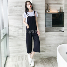 Spring and summer new style Simple casual T-shirt + pants two-piece Casual suit