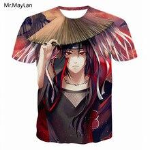 Japan Anime Naruto Uchiha Itachi Print 3D T Shirt Men/Women Hipster Streetwear T-Shirt Tee Tshirt Summer Boy Tops 5XL harajuku