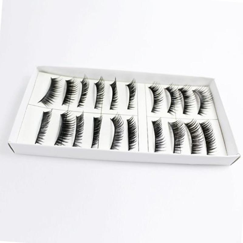 10 Pair Thick Long False Eyelashes Eye Lashes Makeup Beauty Tools JIU55 in False Eyelashes from Beauty Health