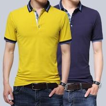 Men's POLO Short-sleeved Cotton plus size business polo Shirt Men's Summer Color Korean Half-Sleeve POLO