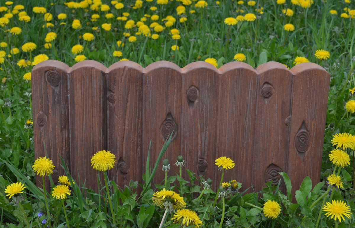 Online buy wholesale garden fence from china garden fence flowers yard planting fence artificial cement stone maker mold log edging border plastic plaster concrete mould baanklon Images