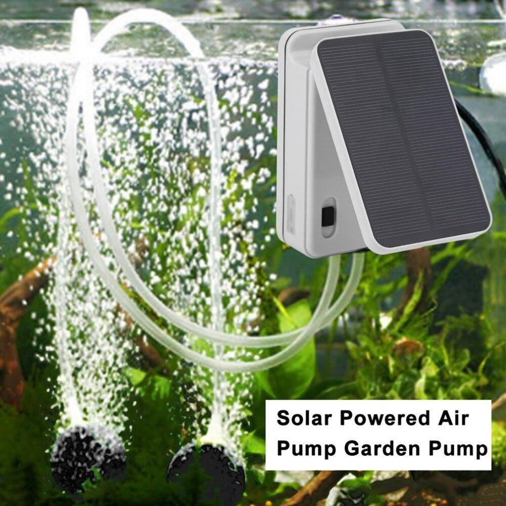 Energía Solar/Batería de Aguas Oxigenador Oxígeno Bomba de Aire Aireador Estanque con 1 Aire Piedra Acuario Bomba de Aire