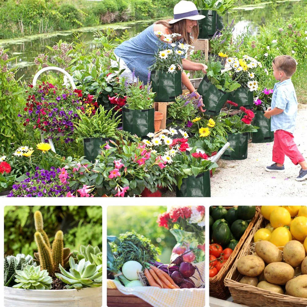 حديقة المنزل ، حقيبة زراعة البطاطس والطماطم والخضراوات ، حقيبة نمو النبات ، حديقة الحديقة العمودية ، وعاء الزراعة