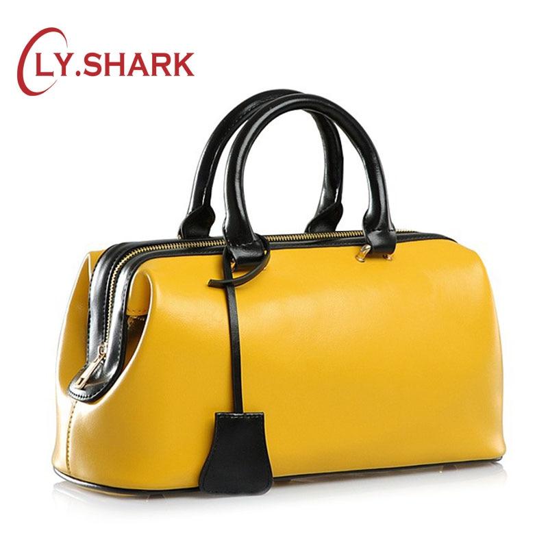 LY.SAHRK off white women genuine leather bag female bag women handbag brand luxury leather 2019 ladies hand bag doctor yellow