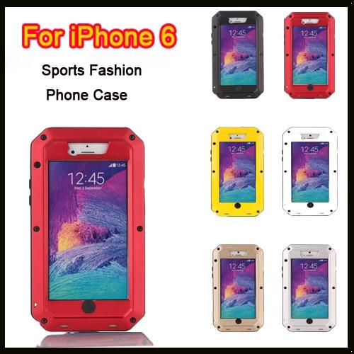 Цена за Для Apple iPhone 6 6 Случае с Всепогодный Падение доказательство Пылезащитный Металла металлический корпус Крышка Экстрим Gorilla Glass для iPhone 6 + Упаковка