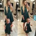Otoño Madre hija a juego vestidos de ropa de fiesta elegante vestido de madre e hija familia de madre e hija ropa a juego