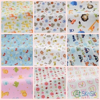 Good Fabric DIY Sewing Cartoon Animals Printed Cotton Cloth Flannel Baby Velvet Fabric 140 Width Cotton