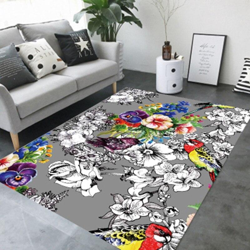 Style nordique mode tapis pour salon en peluche tapis de sol Shaggy tapis maison thé table chambre hôtel Club anti-dérapant tapis doux