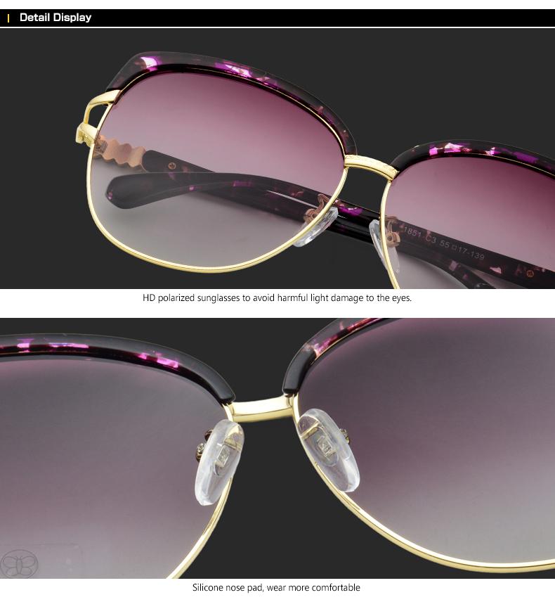 HTB1mvsUbPihSKJjy0Ffq6zGzFXai - Blanche Michelle 2018 High Quality Square Polarized Sunglasses Women Brand Designer UV400 Sun Glasses Gradient Sunglass With Box