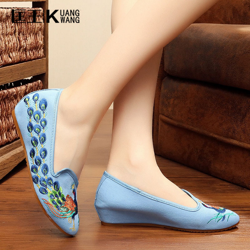 Shoes Woman Chinese Style Cotton Embroidered Women Casual Canvas Ballet Flats Spring Autumn Ladies Leisure Shoes Sapato Feminino new women chinese traditional flower embroidered flats shoes casual comfortable soft canvas office career flats shoes g006