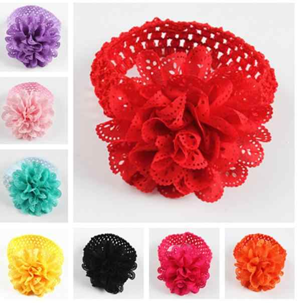 Baby Kids Girls Lace Flower Hairband Headband Dress Up Head band  Headscarf 0-36 months new born baby
