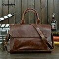 Fashion Men's Messenger bag Vintage Crazy Horse Leather Bags Men Briefcase Business Crossbody Bags #L16073003