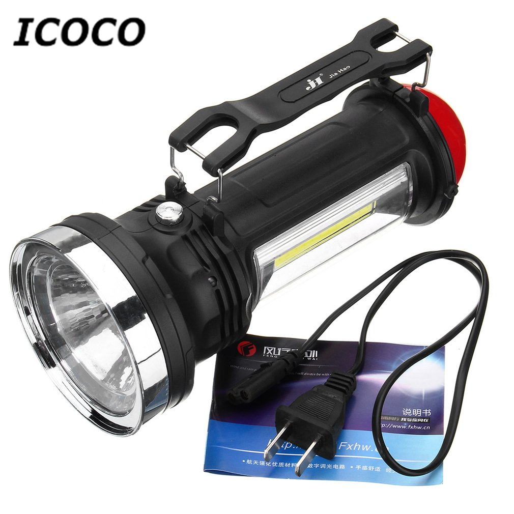 ICOCO Portable Solar Charge COB LED Camping Light Waterproof Outdoor Emergency Torch For Camping Hiking Wholesale Promotion Sale