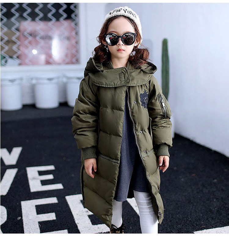 In the long winter jacket jacket boy child pure Korean thick coat