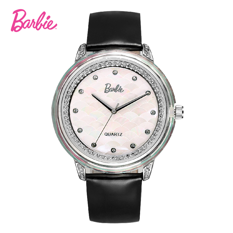 Barbie New Arrival quartz watch Woman watches women luxury brand fashion women wristwatch dive 30m leather strap watch kingsky new fashion small women watches famous design quartz watch black pu leather strap wristwatch