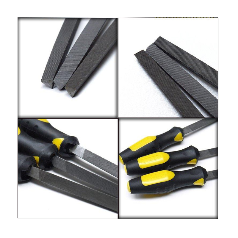 Flat,Metal,8 inches,10 inches,12 inches 3 Piece Carbon-Steel File Set
