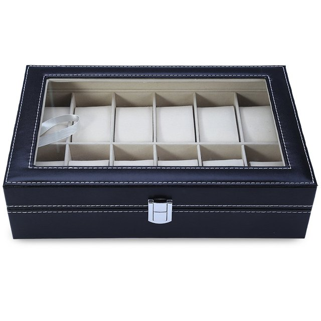 Rectangle Shaped Twelve Slots Watch Cases
