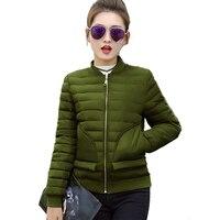 2017 Fashion Slim Short Winter Jacket Women Basic Coats Parka Female Wadded Jacket Coat Down Cotton