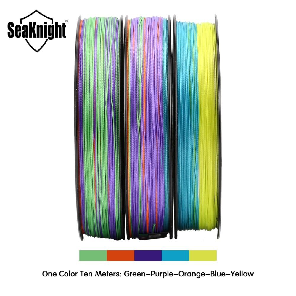 Seaknight monstro w8 linha de pesca 150 m 300 500 trançado 8 fios multi cor multifilamento pe linha 20 30 40 80 100lb