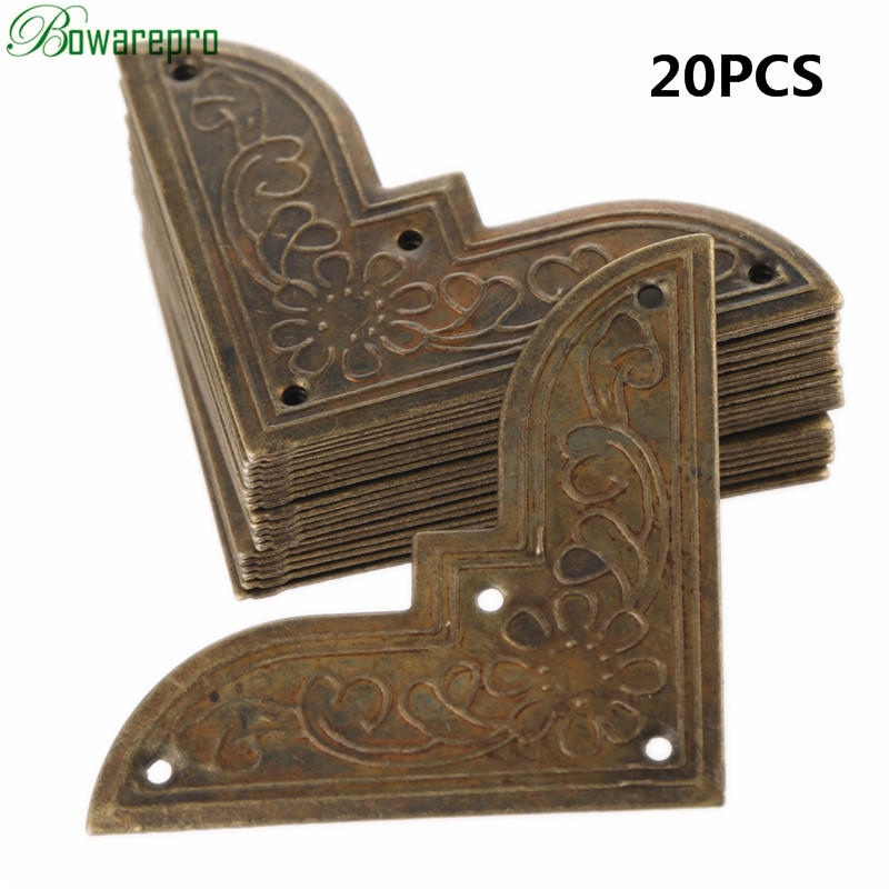 44*62MM 20PCS Antique Corner Protector Box Book Scrapbook Metal Album Corner Decorative Protector Cover For Antique Jewelry Box