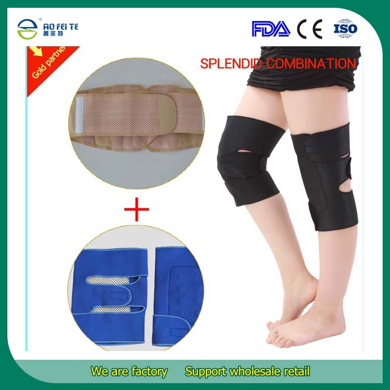 Magnetic Therapy Heated Neoprene Knee Support Brace approved Orthopedic Lumbar Waist Support Belt For MenWomen Back Support Belt