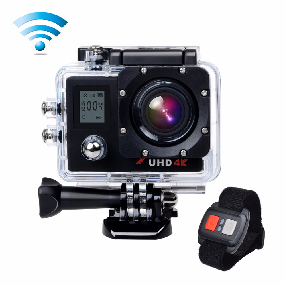 underwater action camera 4k sport cam 16mp wifi 2 lcd dual display 170 wide angle lens 2 4g. Black Bedroom Furniture Sets. Home Design Ideas