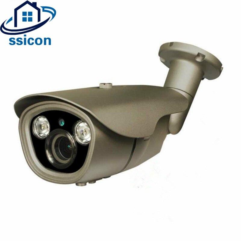 все цены на SSICON H.265 2.0MP 4MP 2.8-12mm Varifocal Lens 48V POE IP Camera Outdoor Bullet IR Distance 40M Security Surveillance Camera онлайн