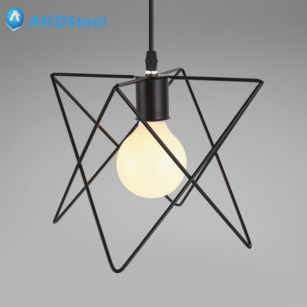 AKDSteel E27 Industrial Style Simple Iron Vintage Creative Pendant Lamp Fixture Chandelier Cage Lampshade New Year led lamp creative lights fabric lampshade painting chandelier iron vintage chandeliers american style indoor lighting fixture