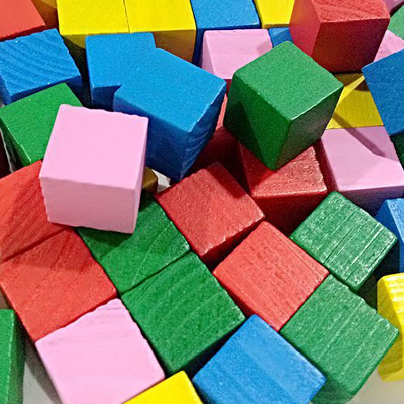 16/20/25pcs 2cm Small Wooden Blocks Building Colorful Cube Child Educational Toys Mathematical Tool Model Kids Toys