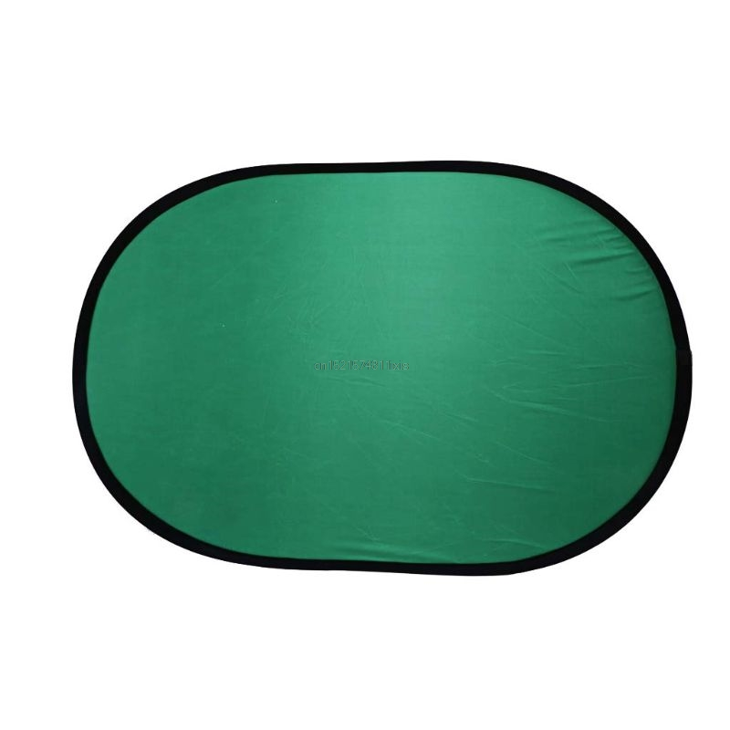 US $21 71 20% OFF|New 100*150CM Oval Collapsible Portable Reflector Blue  and Green Screen Chromakey Photo Studio Light Reflector For Photography-in