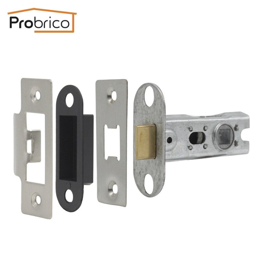 Probrico Satin Nickel Cylinder Locker Accessories European lock Latch For Passage Lock Copper Tongue door hardware DLL5101SN