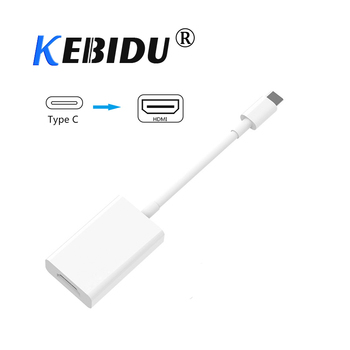 Kebidu USB C to HDMI Adapter 4K Type C 3.1 to HDMI Male to Female Cable Adapter Converter for MacBook Chrome for Samsung S9 S8