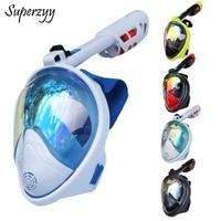 Full Face Diving Mask Anti fog Snorkeling Mask Underwater Scuba Spearfishing Mask Children/Adult Glasses Training Dive Equipment