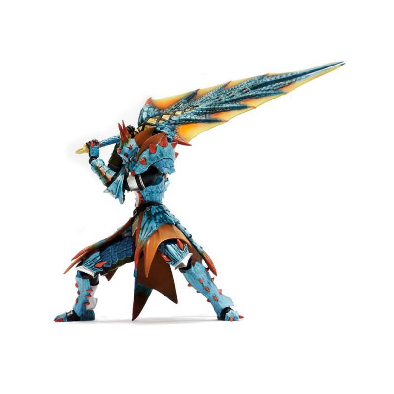 Action Figure From Monster Hunter 3DS Game Sea Dragon Model Collectible Monster Figures Action Toy for Children japan action figure from monster hunter xx game zinogre women hunter set model collectible anime monster figures action toy
